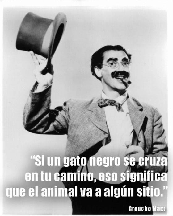 Frases de Groucho Marx que nunca pasarán de moda | Groucho ...