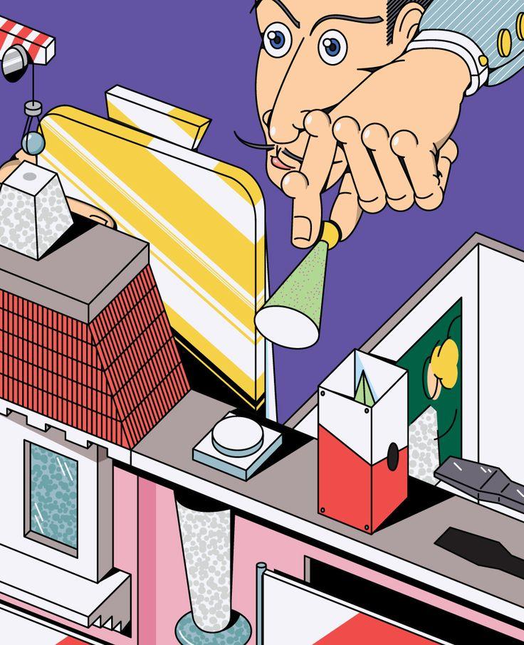 Illustration for Editorial 2014-2015 on Behance
