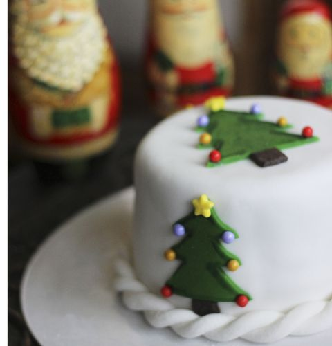 Mini Christmas Cakes | from @Hotly Spiced