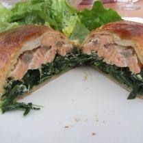 feuilleté saumon-épinard