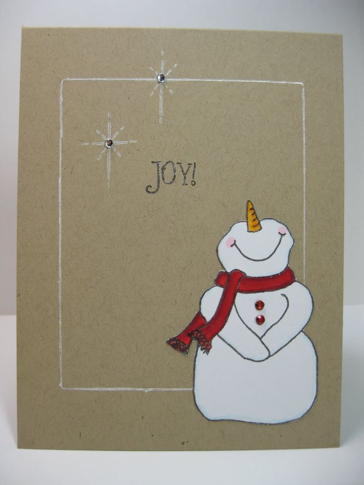 Christmas Card - I'm a sucker for a cute snowman