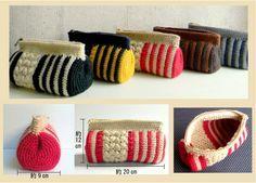 knit pouch kit / ストライプポーチ - 毛糸蔵かんざわオリジナルキット08