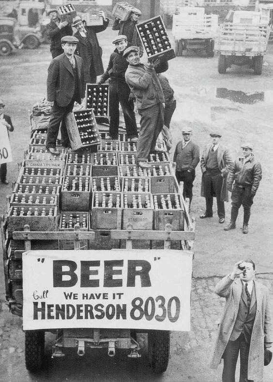 End of prohibition, 1933