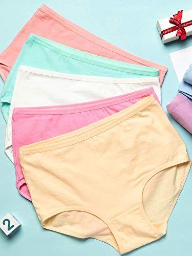 6f005ecd70d7 Syhood 16 Piece Women's Cotton Briefs Underwear High Waist Solid Color Full  Coverage Women Panties,