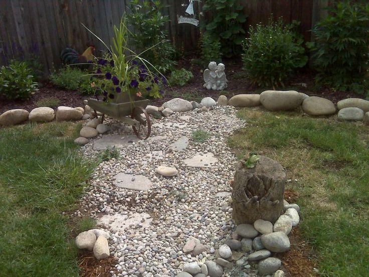 backyard project instant get dry creek bed landscaping ideas. Black Bedroom Furniture Sets. Home Design Ideas