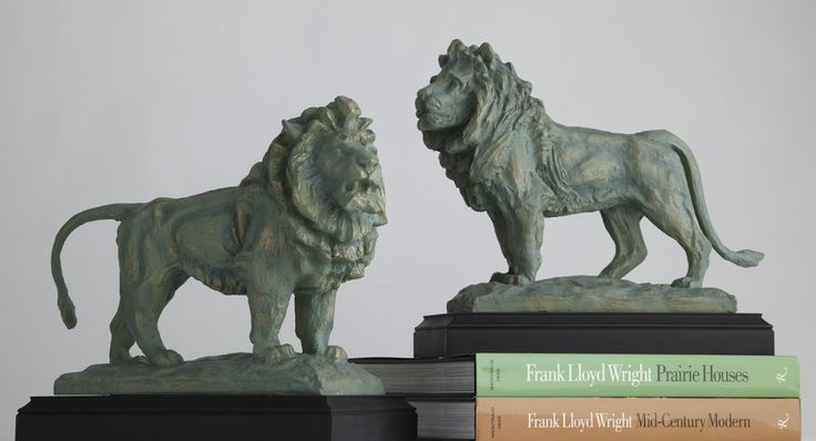 Lion Bookends—Pair, Desk Accessories, Home Furnishings - The Museum Shop of The Art Institute of Chicago