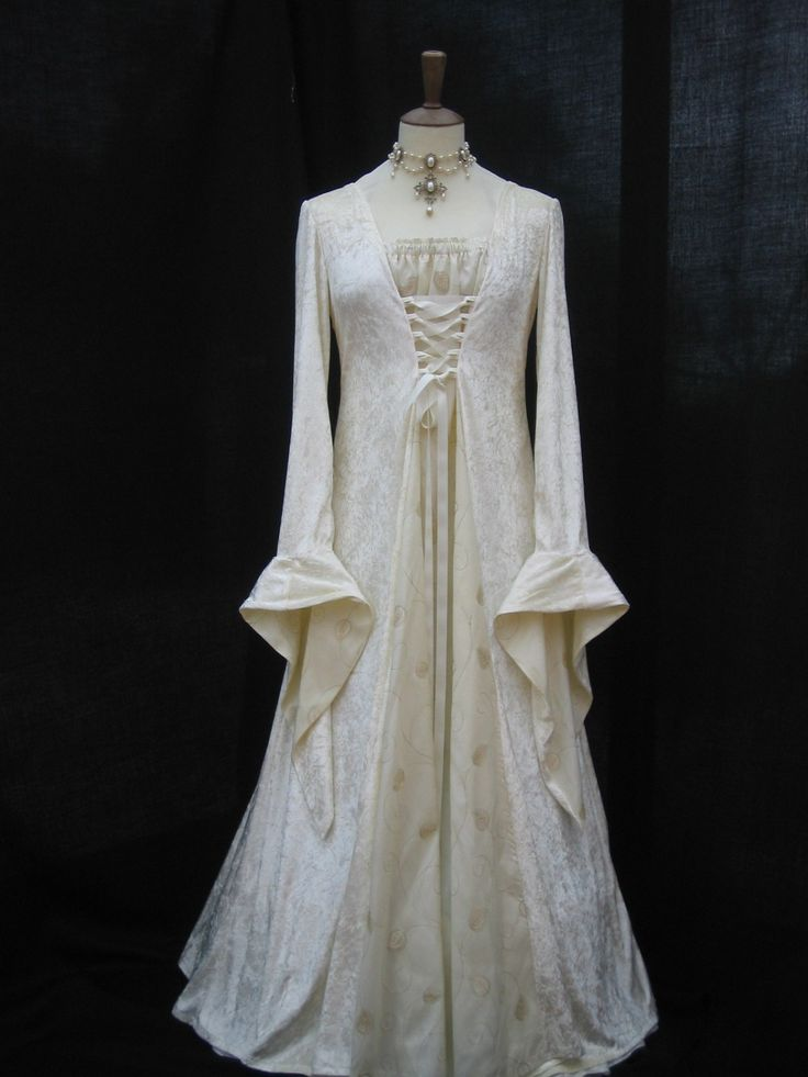 Medieval pagan wedding prom dress gown LOTR hand fasting size 18 - 28. $179.00, via Etsy.
