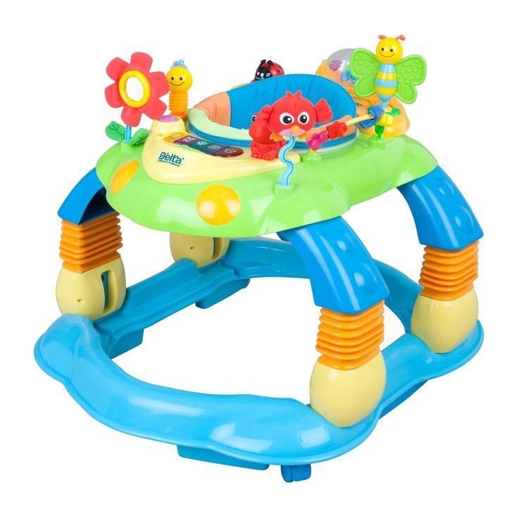 Delta Children Lil' Play Station II 3-in-1 Activity Walker - Blue,