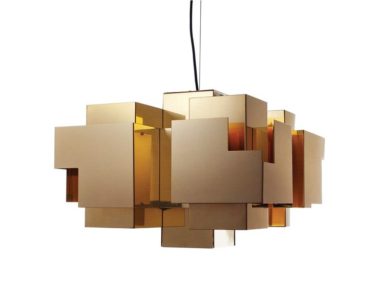 Download the catalogue and request prices of brass pendant lamp Skyline | pendant lamp, design Folkform, Skyline collection to manufacturer Örsjö Belysning