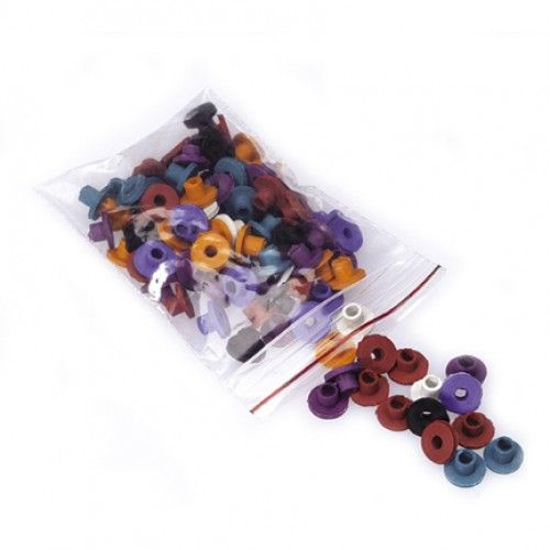 Rubber Nipples Mixed for the Tattoo Machine. Needle bar loop grommets.