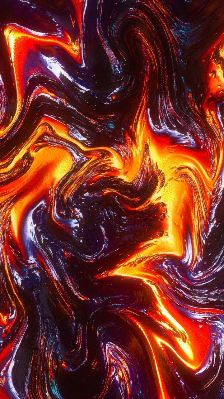 Wallpaper Cute Emoji Digital Art Lava Fire Glitch Abstract Wallpaper
