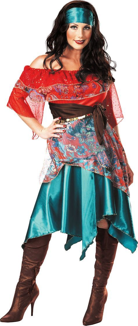 fucking woman in adult gypsy costume