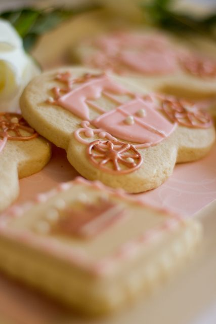 Fairy tale cookies at a Princess Party #princess #party Cool looks like just a mickey cookie upside down.  I have that!