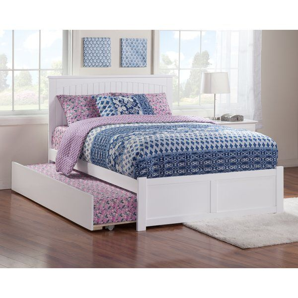 Graham Platform Bed With Trundle In 2020 Bed Platform Bed