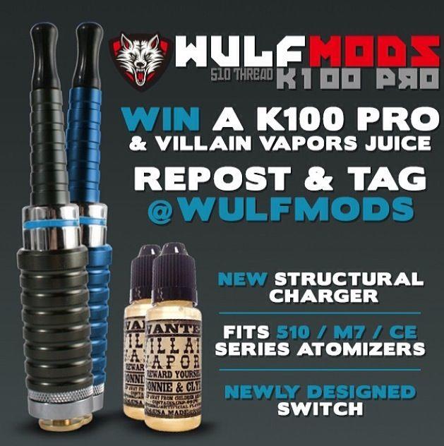Head on over to the Got Vape Facebook Page & enter to win a new K100 Pro Mod & Villain Vapors E-Juice:  http://woobox.com/uefoty  http://www.gotvape.net/vaporizer/top-rated-vaporizers.html