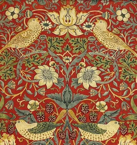 William Morris Strawberry Thief (1883) Fabric Alexander Interiors Ltd