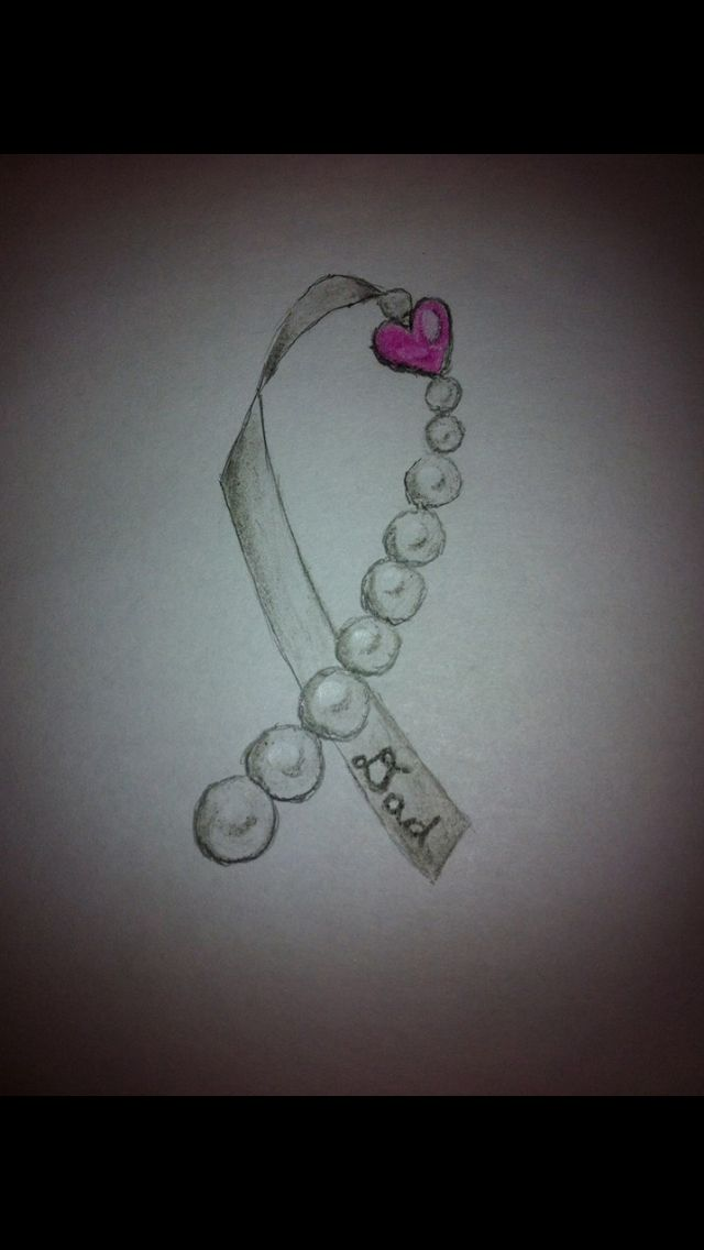 My brother-in-law drew this for me for my dad. Getting it tattooed to show my support. Lung cancer.