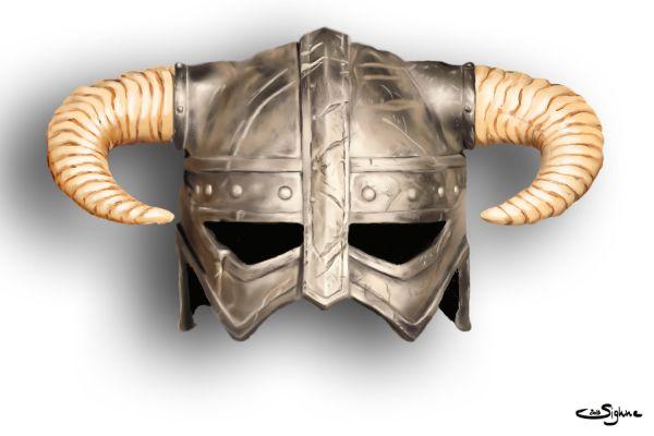 Dragonborn Helmet by Sighne.deviantart.com on @DeviantArt