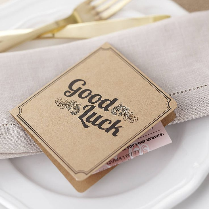 brown kraft lottery ticket wedding favour by ginger ray | notonthehighstreet.com