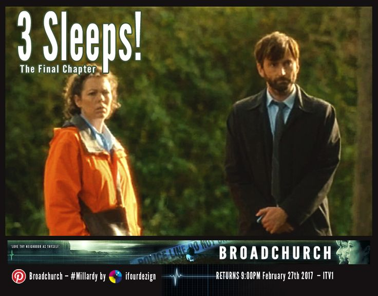 #Broadchurch 3 - The Final Chapter - 3 Sleeps until UK air date #Countdown