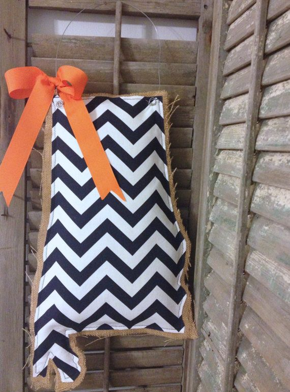 Alabama Burlap Door Hanger  Navy Chevron by MagnoliaBelleDesigns, $35.00, but in a nonfootball related color so like PINK!