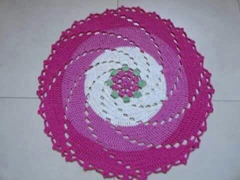 Alfombra circular,crochet.
