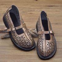 Новинка дамы натуральной телячьей кожи национальный колорит бездельник туфли сандалии удобная обувь чешские стиль бесплатная доставка