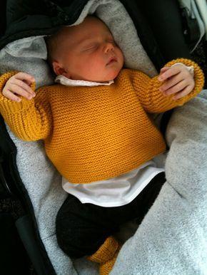 Tuto gratuit pour cette brassière naissance adaptée d'un modèle Phildar et qui se tricote en une seule pièce avec des aiguilles 4 mm