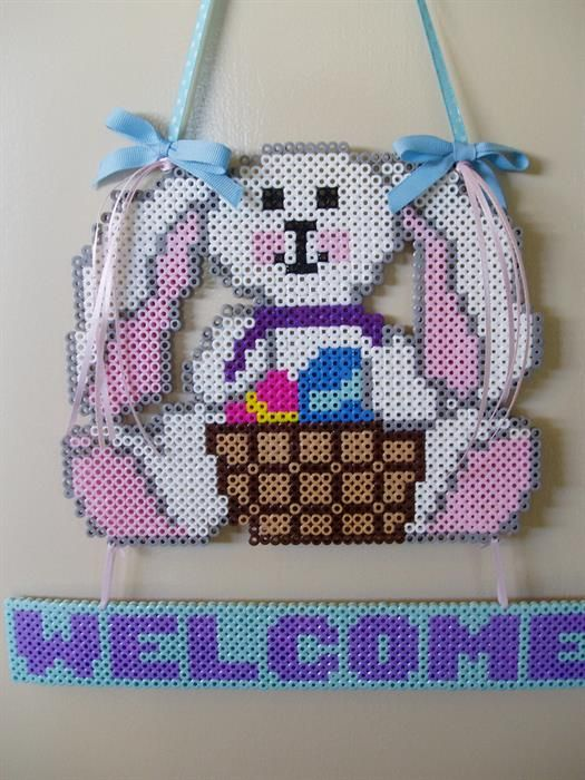 Easter Rabbit  perler beads by Jessi B. - Perler® | Gallery