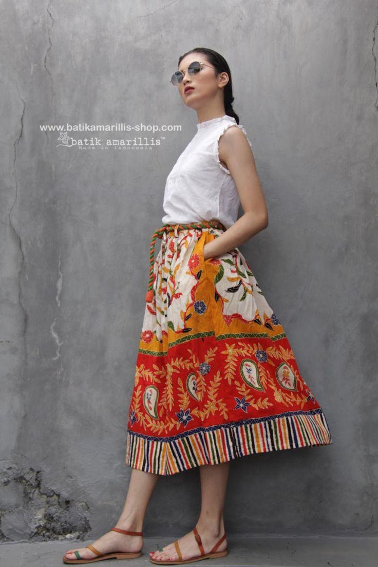 Available to order at Batik Amarillis webstore on November 25 FRESHLY MADE Batik Amarillis's Traveller skirt in gorgeous Batik gendongan sidoarjo , Get it Fast at Batik Amarillis webstore www.batikamarillis-shop.com , before it's gone for good !