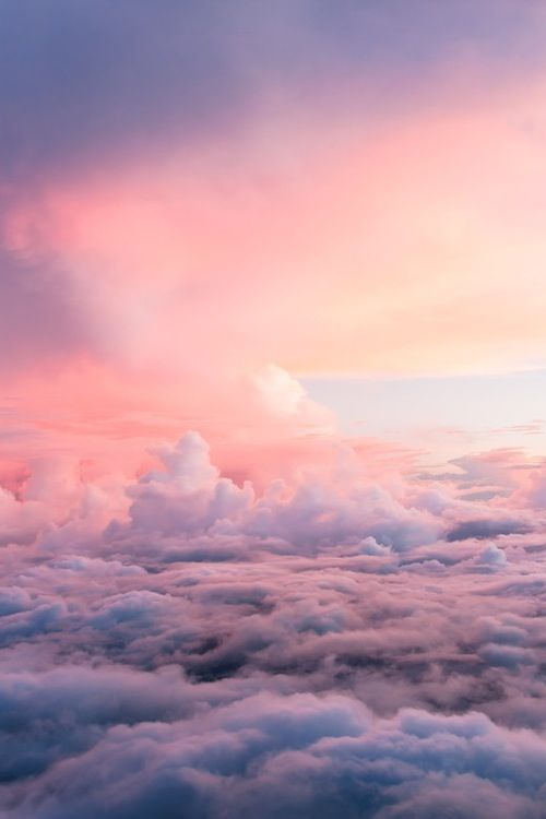 The prettiest thing in the world is when im in an airplane and i can see above all the clouds