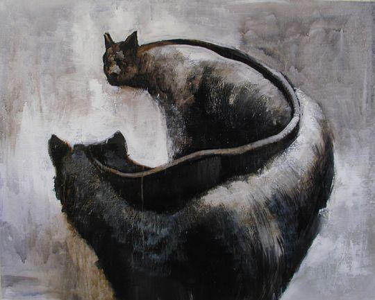 Visual artist Samuli Heimonen MEMORY. 60Cm x 80cm. Acryl and oil on canvas. 2006