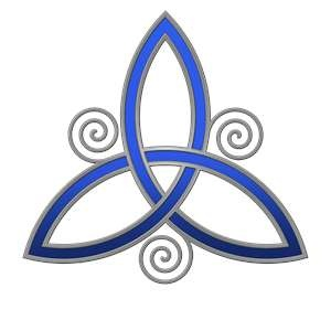 The Celtic Trinity Symbol    Meaning-Father, Son, Holy Spirit (or) Past, Present, Future.