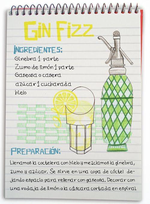 Cóctel Gin Fizz - Cócteles con Ginebra - Maria Cortes - CATABOX