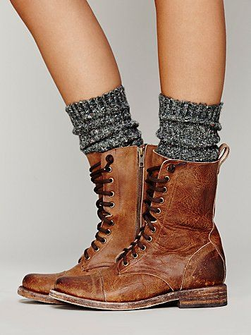 Lace Up Boot brown leather rustic vintage adventure boots cute tumblr hipster messy scruffy