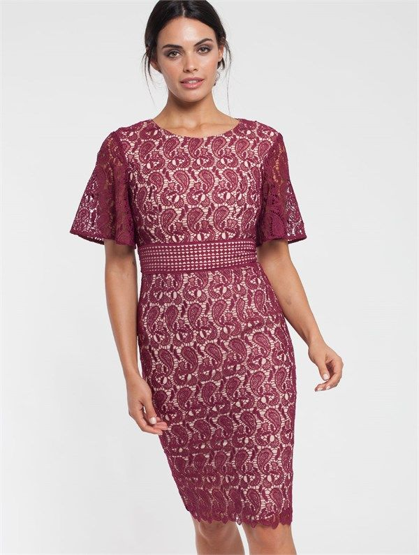 Pink Ruby - Alley Lace Flutter Dress