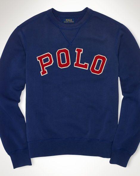 Polo Ralph Lauren Weathered Darkblue Fleece Hoodie