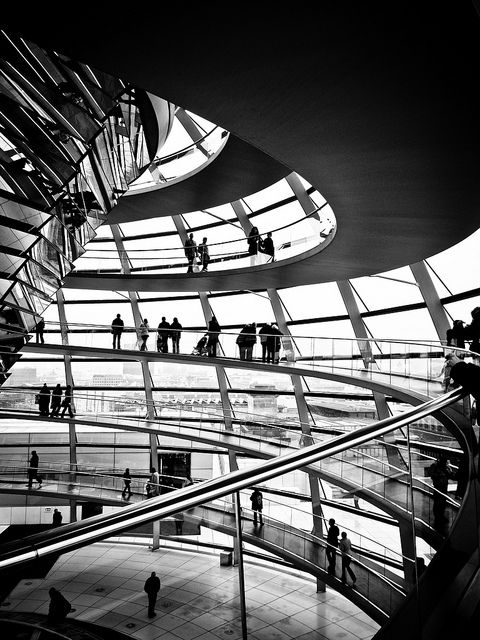 The spiral within the Reichstag Dome, Berlin, Germany