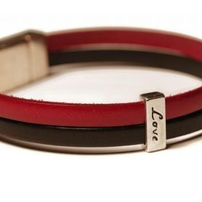 Unisex Leather Bracelet LOVE  - Hipbazar.com