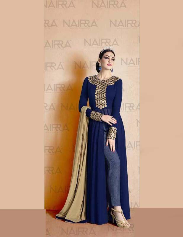 Floor Touch Blue Nakkashi Suit  Visit;http://www.glamzon.com/shop/salwar-kameez/floor-touch-blue-nakkashi-suit/   #nakkashi #straightsalwarkameez #nairra