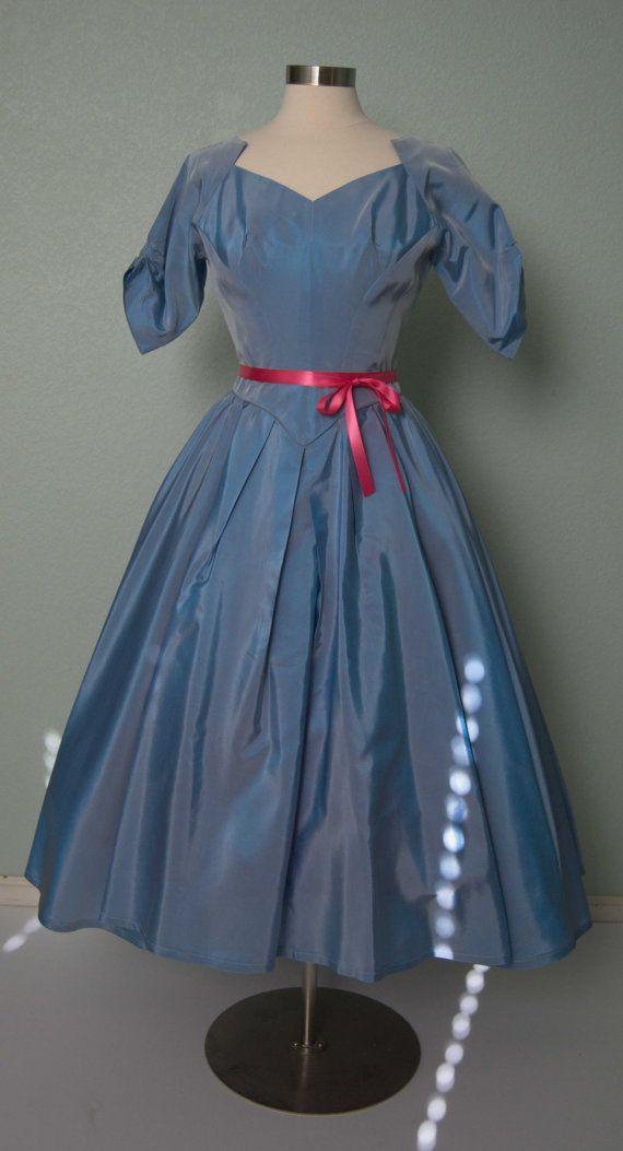 1950s Priscilla of Boston Taffeta New Look by KittyGirlVintage, $144.00