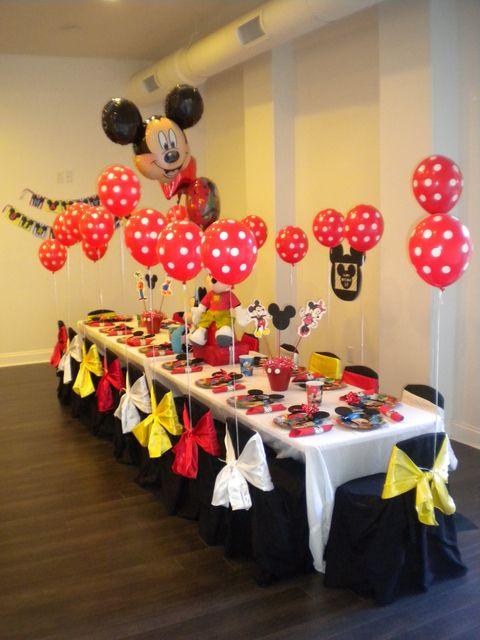 Mickey Mouse Birthday Party Ideas  Disney, Birthdays and Polka dots