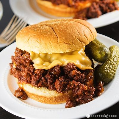 Slow Cooker Sloppy Joes are made right in the crock pot with ground beef, ketchup, a little brown sugar, worcestershire sauce, and a few other ingredients that you already have on hand. It is easy, saucy, and can be made with turkey as well for a healthy alternative to the ground beef.