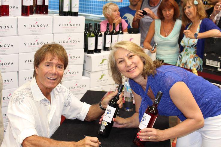 #CliffRichard #Algarve #VidaNova Cheryl with Sir Cliff Richard in the Algarve
