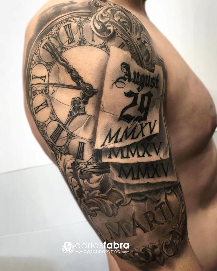 """2,085 Me gusta, 22 comentarios - Carlos Fabra CosaFina tattoo (@carlosfabra_cosafina) en Instagram: """"Homenaje a su hijo Martí. Totalmente curado."""""""