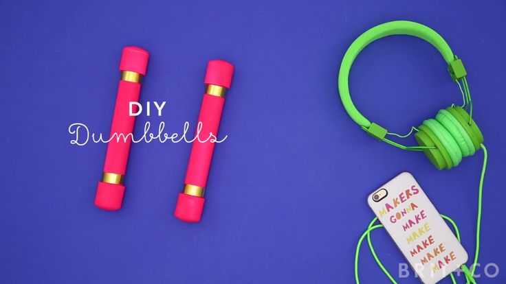 You can make DIY dumbbells for your next home gym workout with this how to video tutorial.