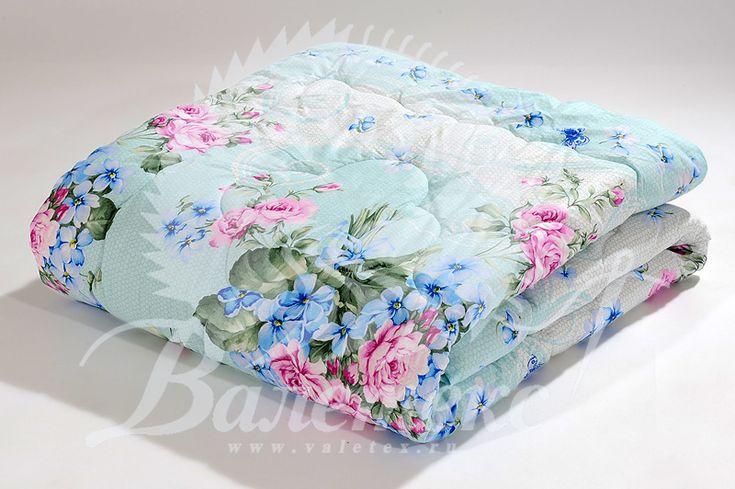 Облегченное одеяло из овечьей шерсти в ткани поплин с красивым рисунком от производителя ТМ Валетекс