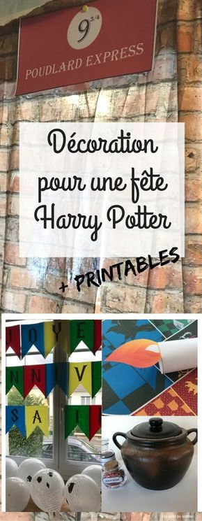 les 25 meilleures id es de la cat gorie anniversaire harry potter sur pinterest f te th me d. Black Bedroom Furniture Sets. Home Design Ideas