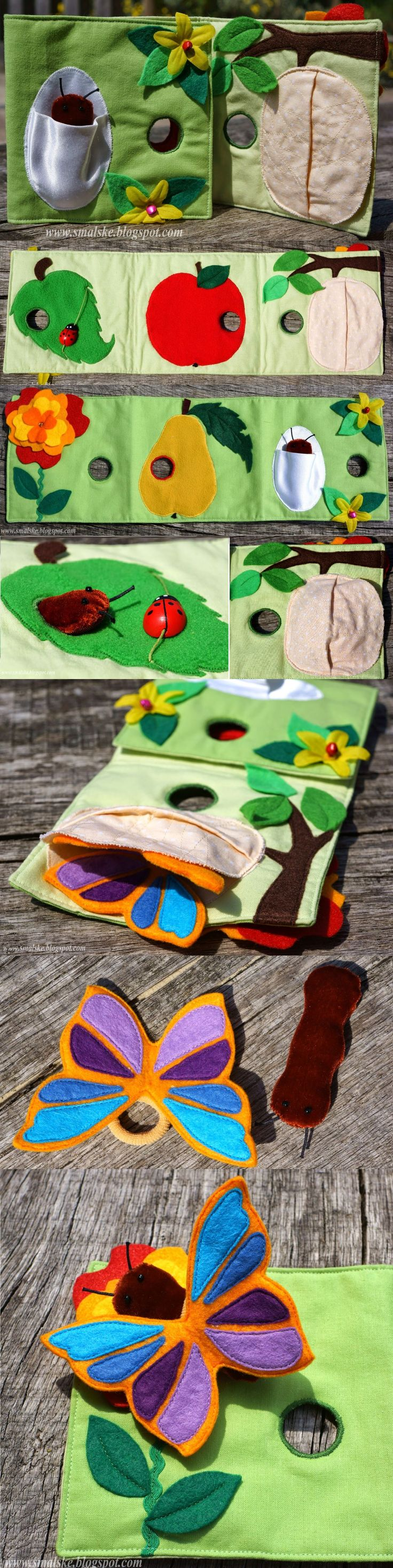 Hungry Caterpillar Quiet Book - by What is Olga Doing http://www.smalske.blogspot.ca/search/label/quiet%20book