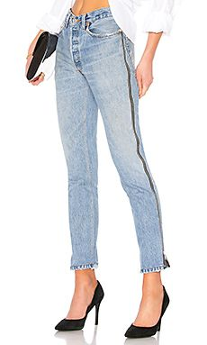 New RE/DONE LEVI'S High Rise Ankle Crop Zip online. Find the perfect 7 For All Mankind Clothing from top store. Sku oblh96255gkse63995